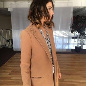 Camel Blazer Coat